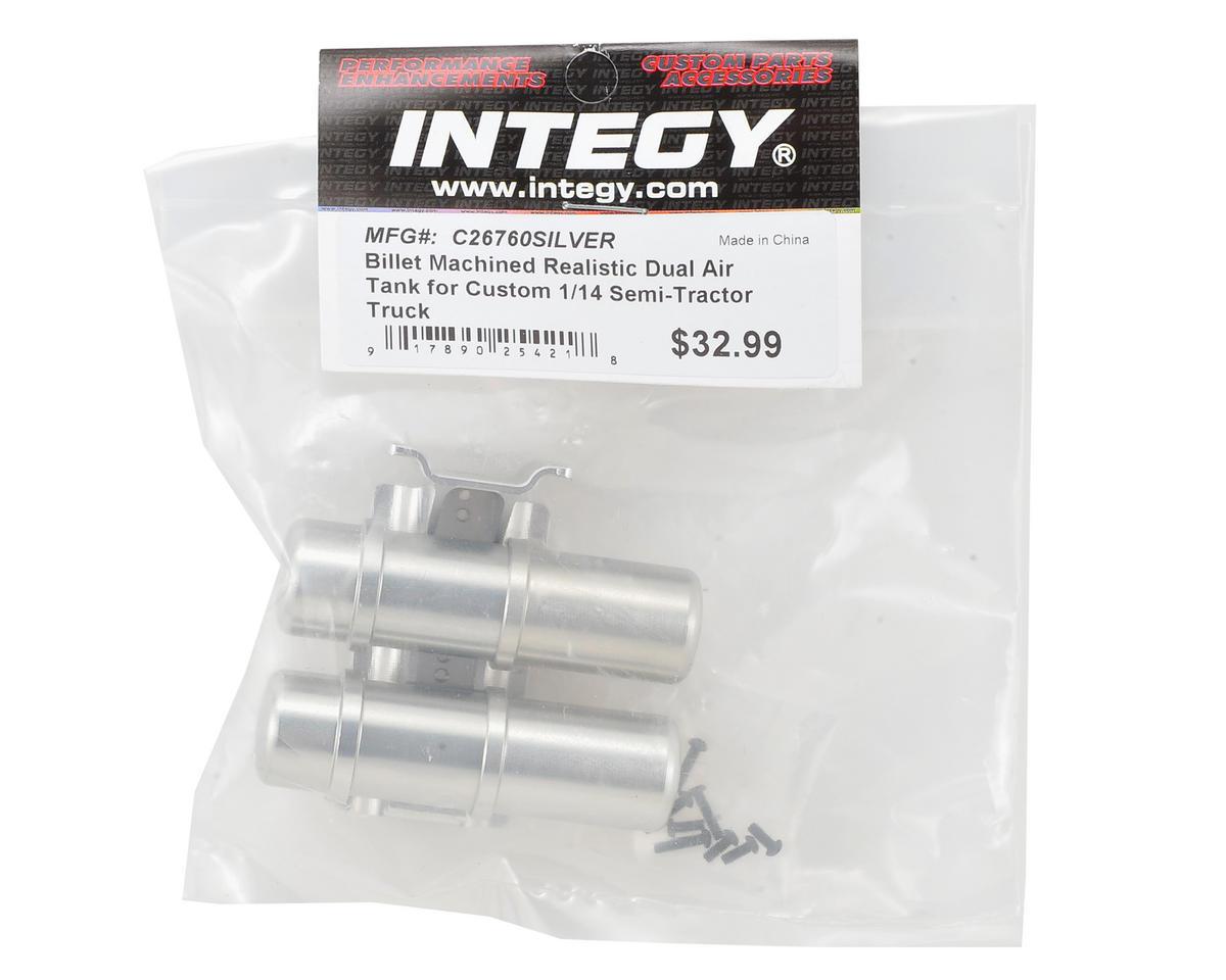 Team Integy Aluminum Realistic Dual Air Tank (Silver)