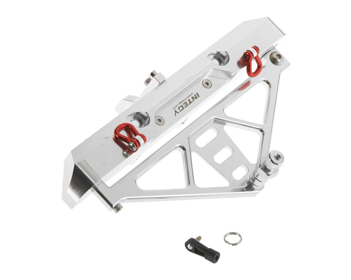 Team Integy C26843SILVER Rear Bumper w/43mm Mount SCX-10 Crawler