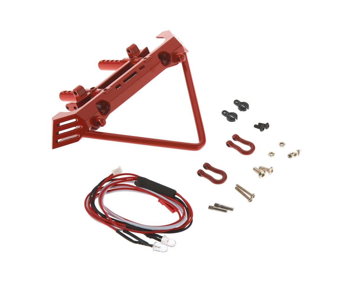 C26862RED Front Bumper w/40mm Mount SCX-10 Crawler by Team Integy