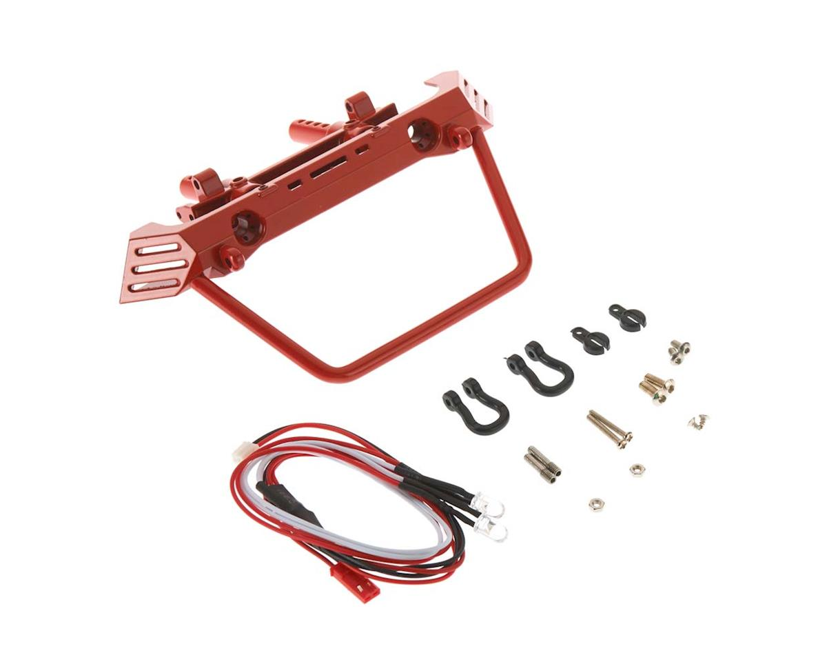 C26863RED Front Bumper w/40mm Mount SCX-10 Crawler by Team Integy