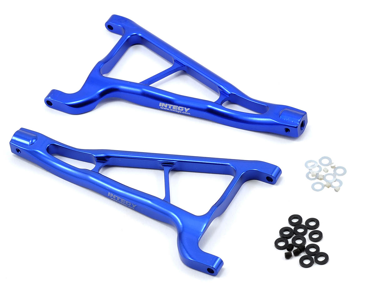 Team Integy Evolution3 Front Upper Arm Set (Blue) (Traxxas Summit)