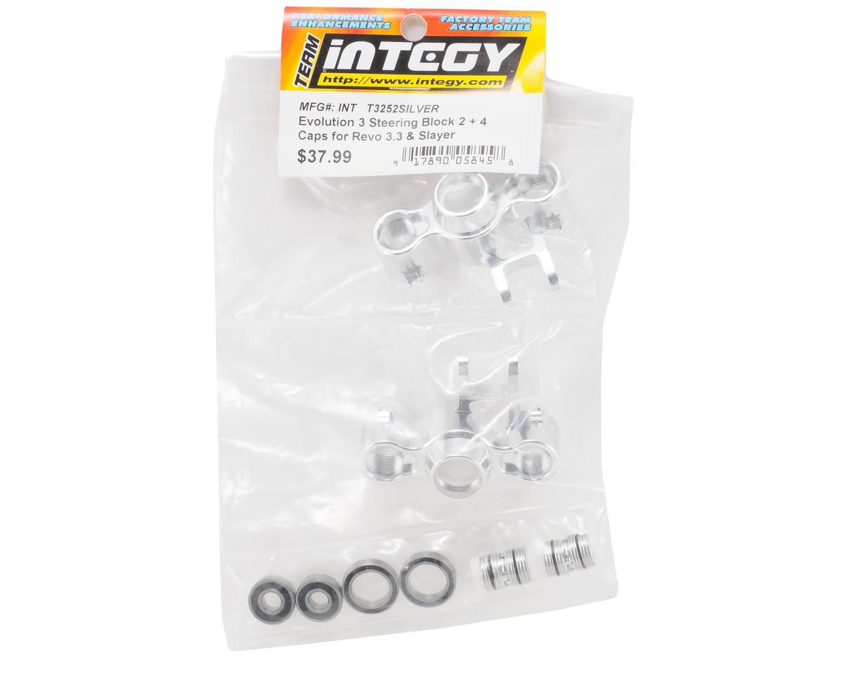 Team Integy Evo3 Aluminum Steering Block Set (Silver)