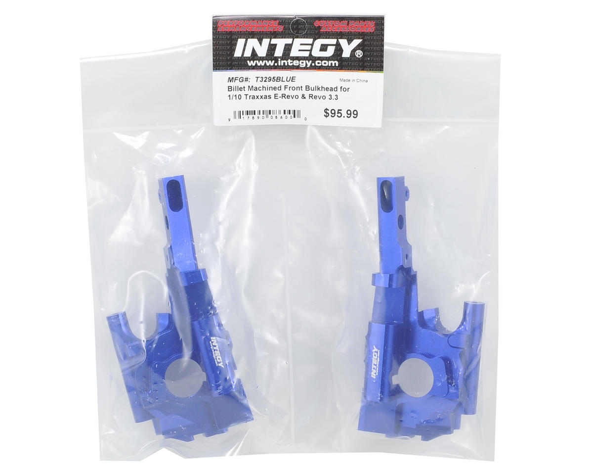 Team Integy Aluminum Front Bulkhead (Blue)