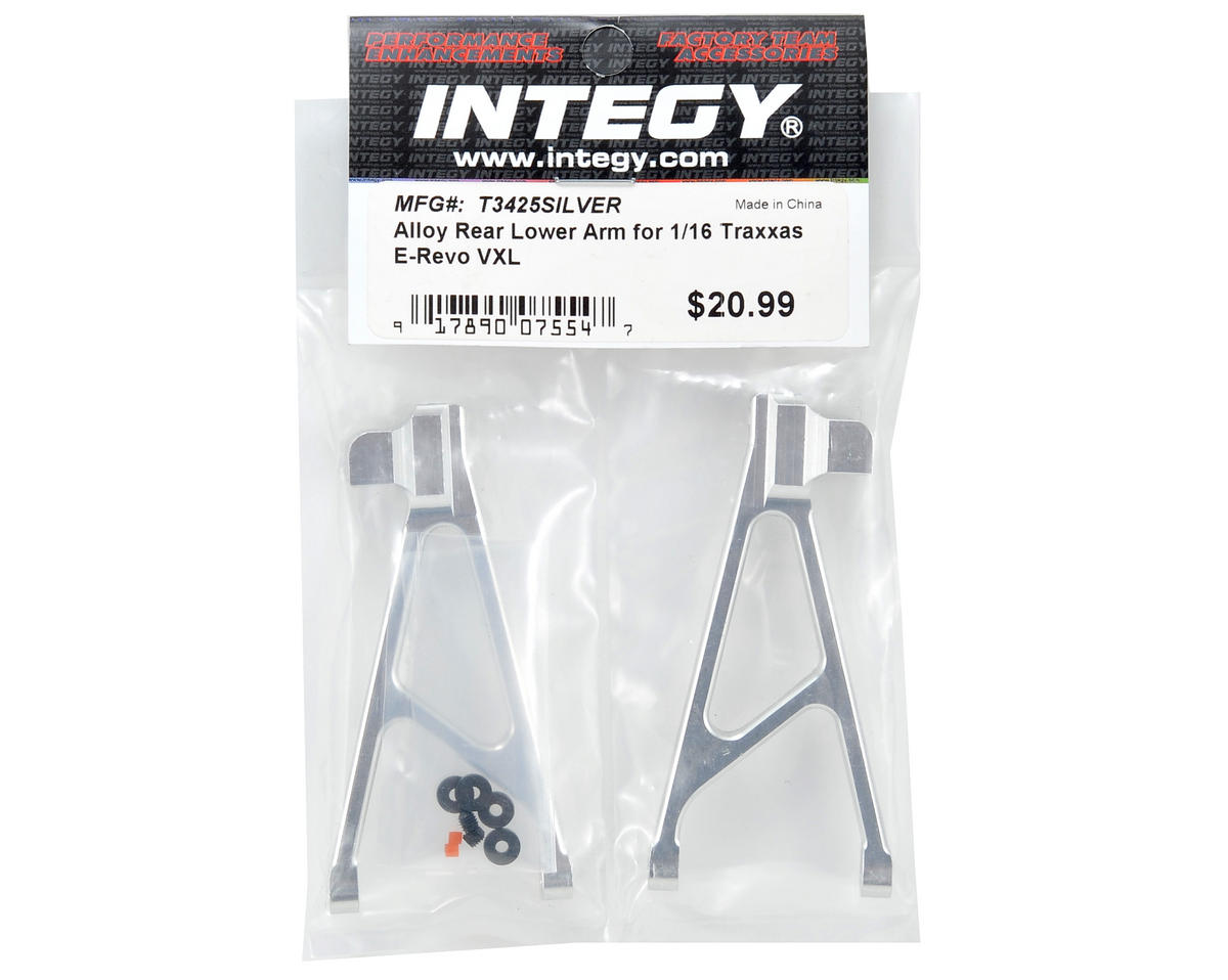 Team Integy Aluminum Rear Lower Arm Set (Silver)