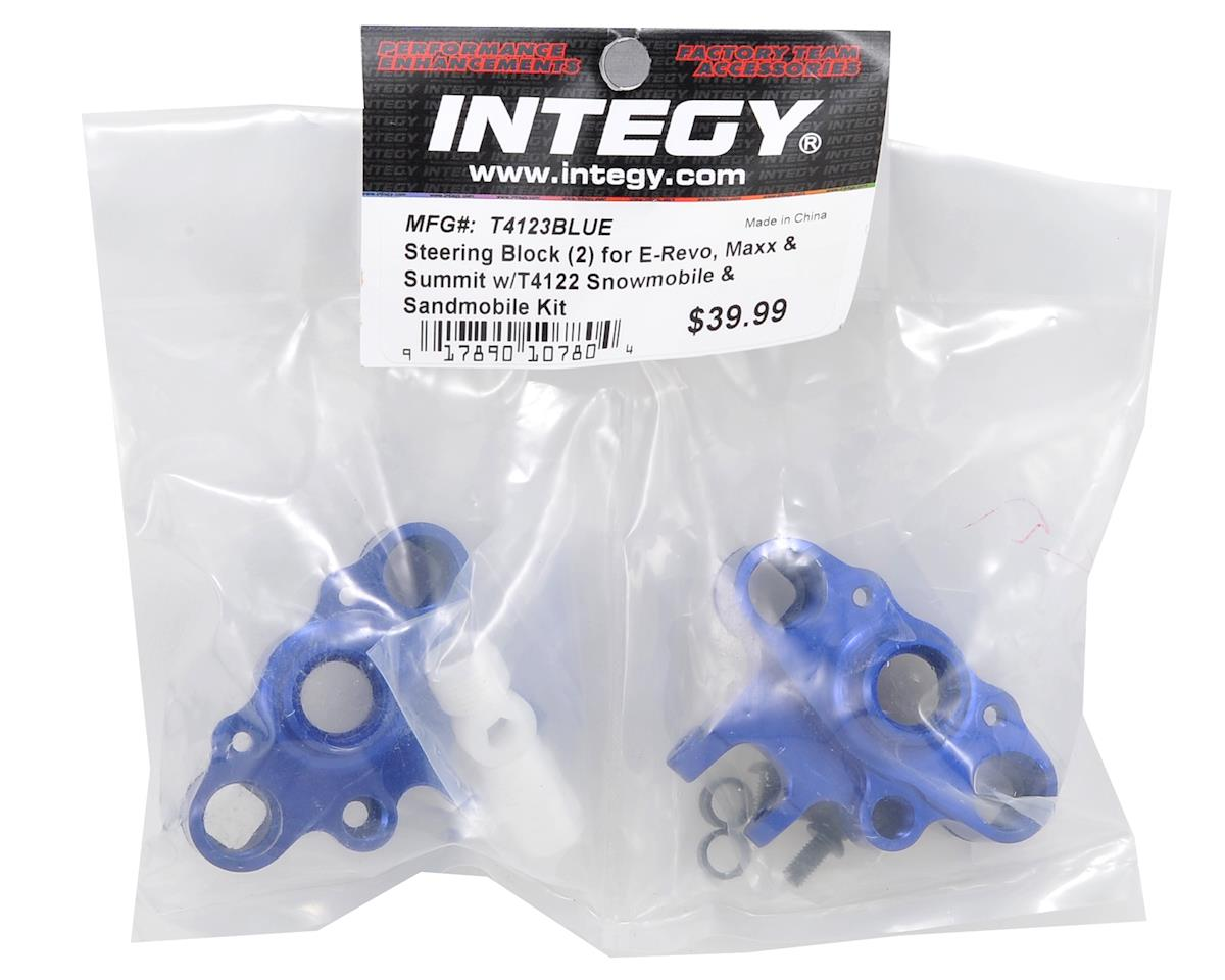 Team Integy Traxxas Sled Conversion Steering Block Set (Blue) (2)
