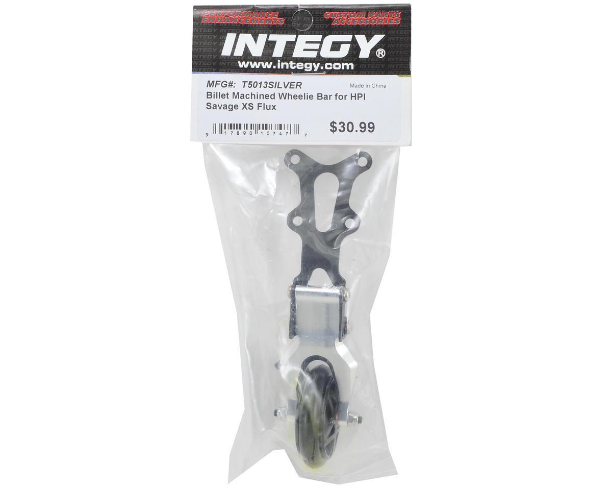 Team Integy Savage XS Flux Billet Wheelie Bar Set (Silver)