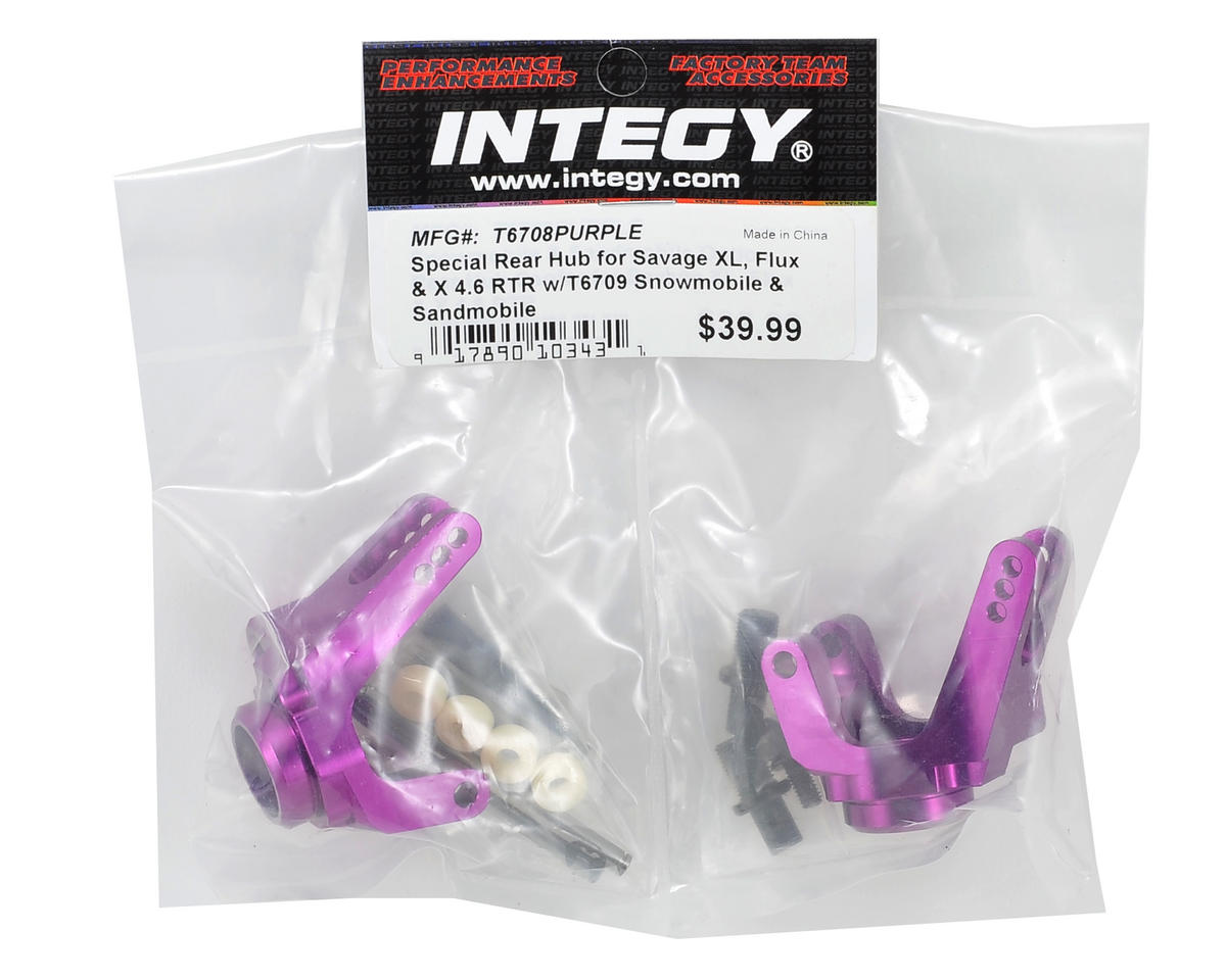 Team Integy Savage Sled Conversion Rear Hub Set (2) (Purple)