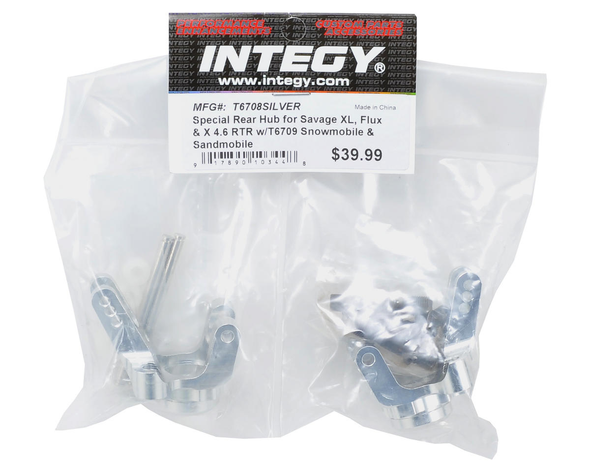 Team Integy Savage Sled Conversion Rear Hub Set (2) (Silver)