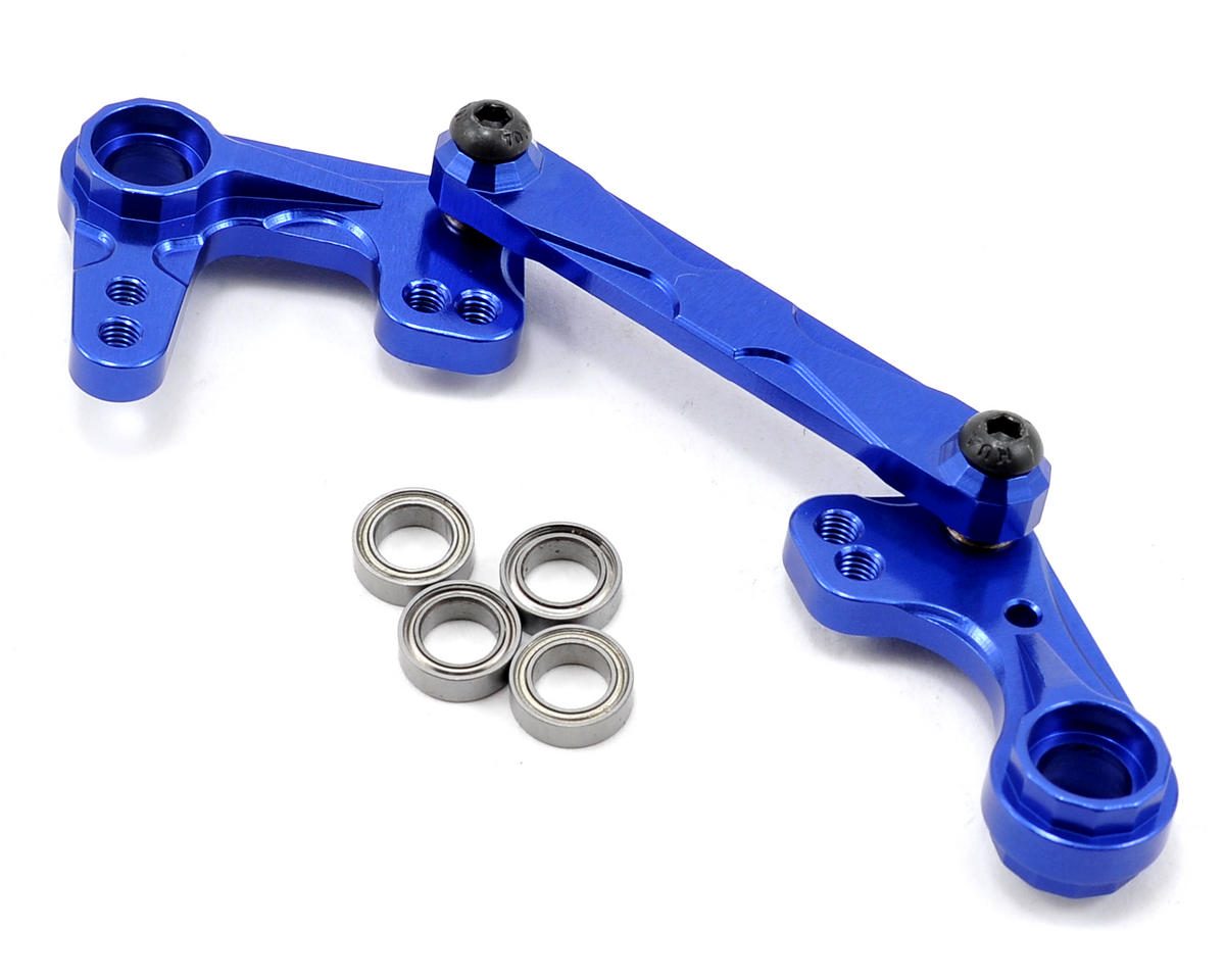 Team Integy Aluminum Steering Bellcrank Set (Blue) (Traxxas Nitro Rustler)