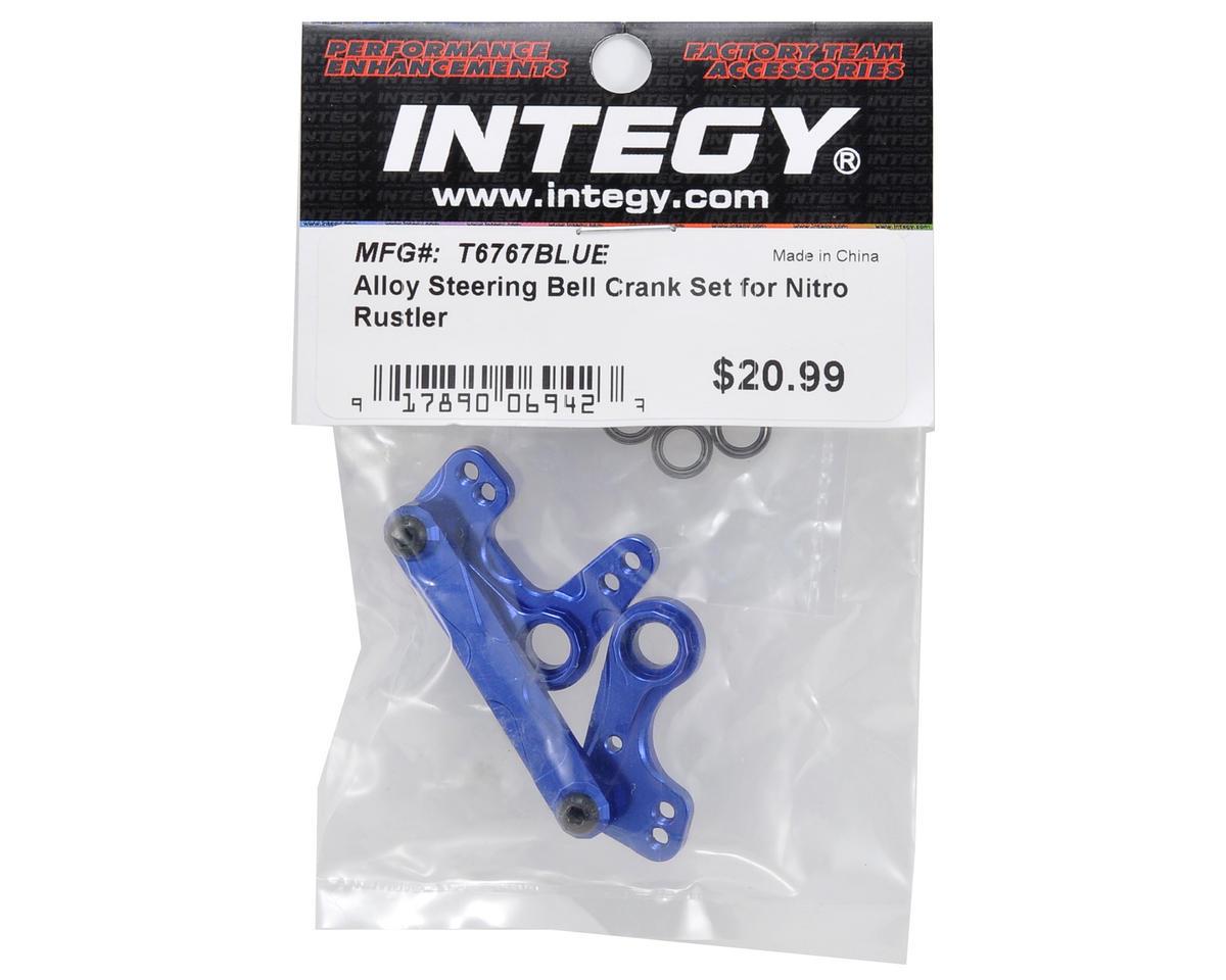 Team Integy Aluminum Steering Bellcrank Set (Blue)