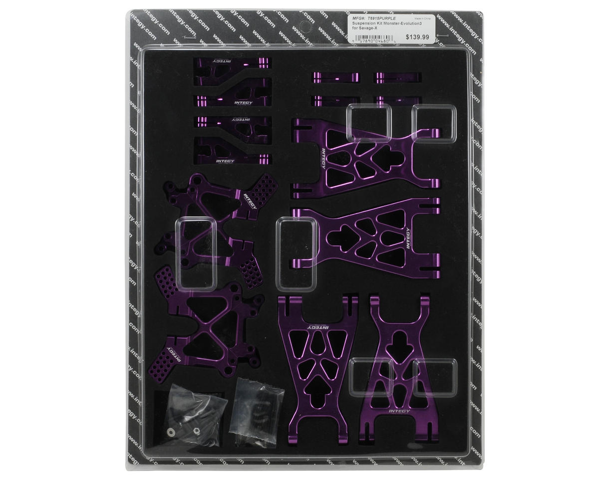 Team Integy EVO3 Monster Suspension Kit (Purple) (HPI Racing Savage X)