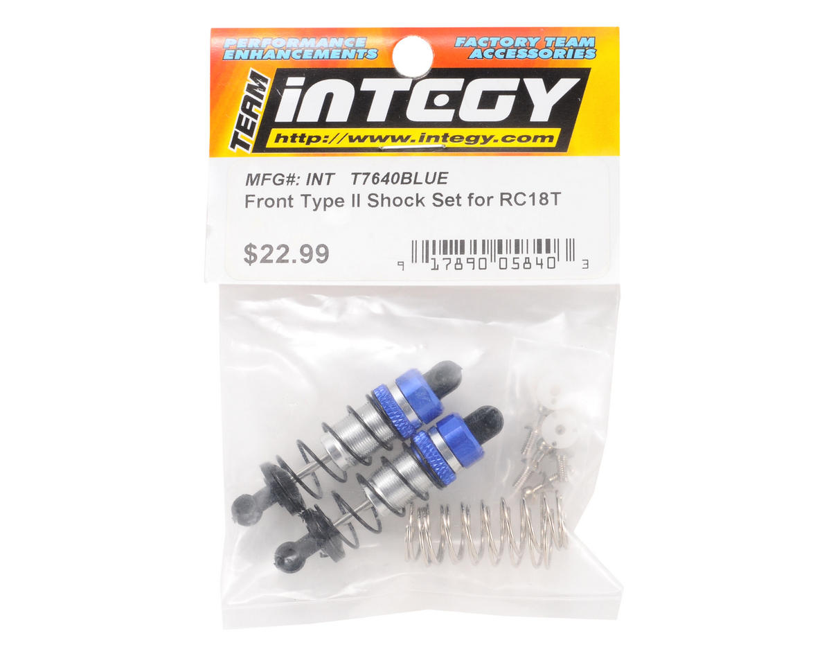 Team Integy Front T2 Shock Set (Blue)