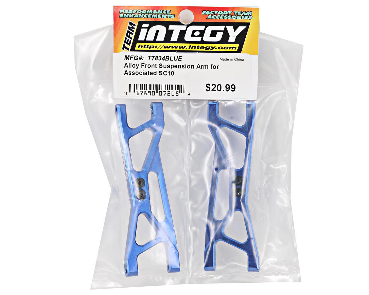 Team Integy Aluminum Front Suspension Arm Set (Blue) (2) (SC10)