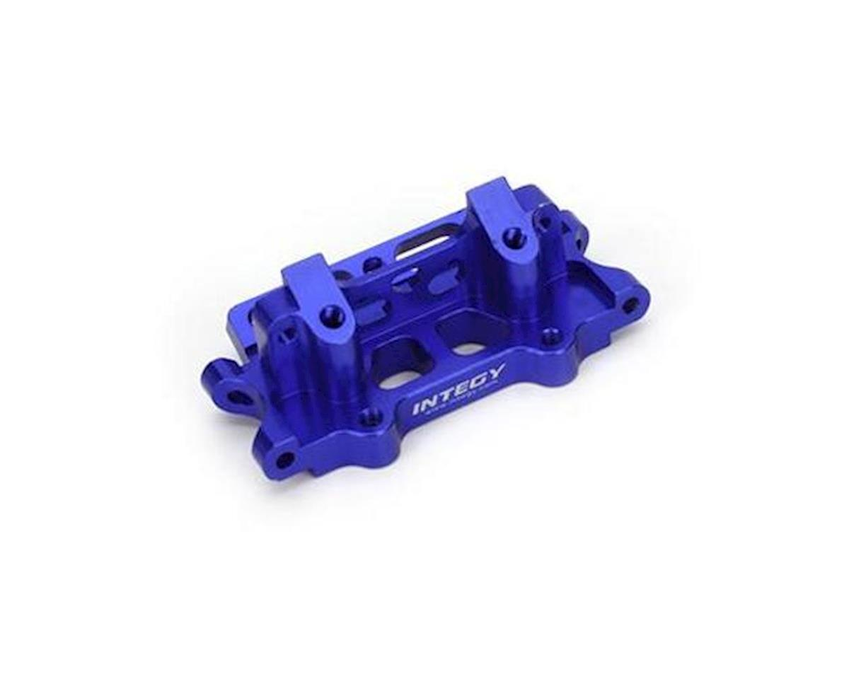 Team Integy Front Bulkhead, Blue: Rustler, Slash