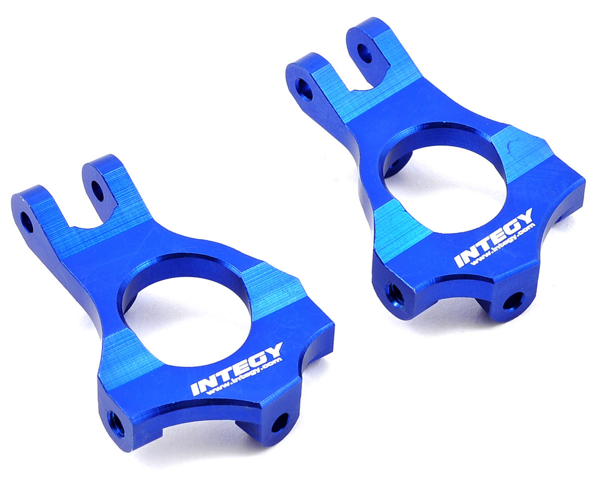 Team Integy Machined Caster Block Set (Blue) (Losi TEN-SCT Nitro)