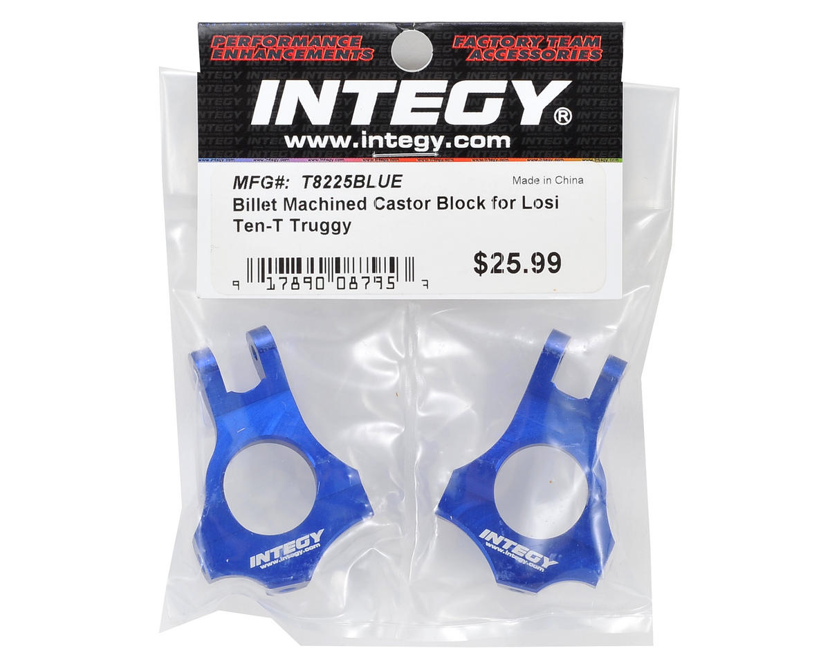 Team Integy Machined Caster Block Set (Blue)