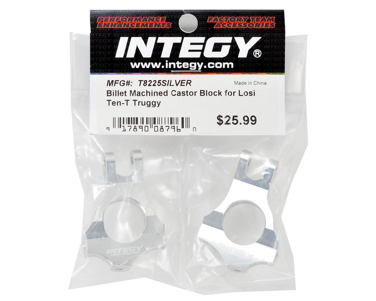 Team Integy Machined Caster Block Set (Silver)