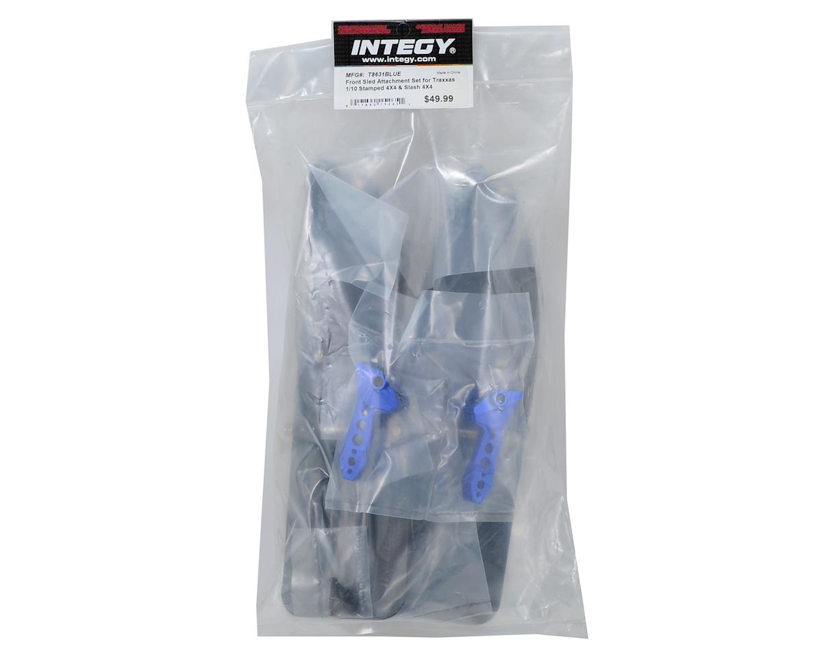 Team Integy Traxxas Front Sled Ski Conversion Set (Blue)