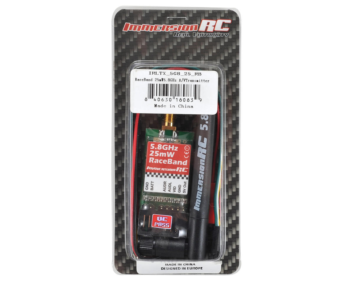 ImmersionRC RaceBand 25mW 5.8GHz Audio/Video 15-Channel Transmitter