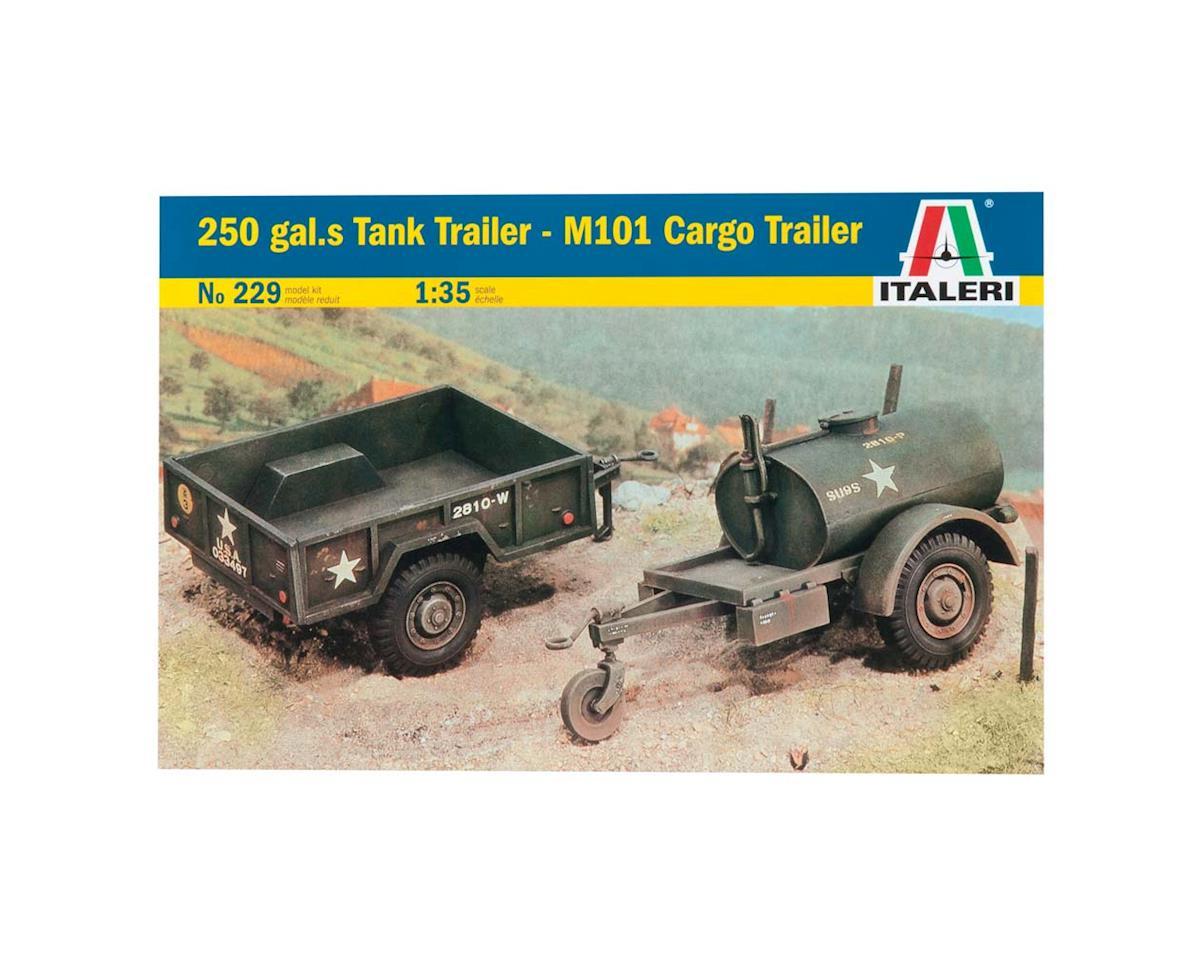 Italeri Models 1/35 250 Gal. S Tank Trailer/M101 Cargo Trailer