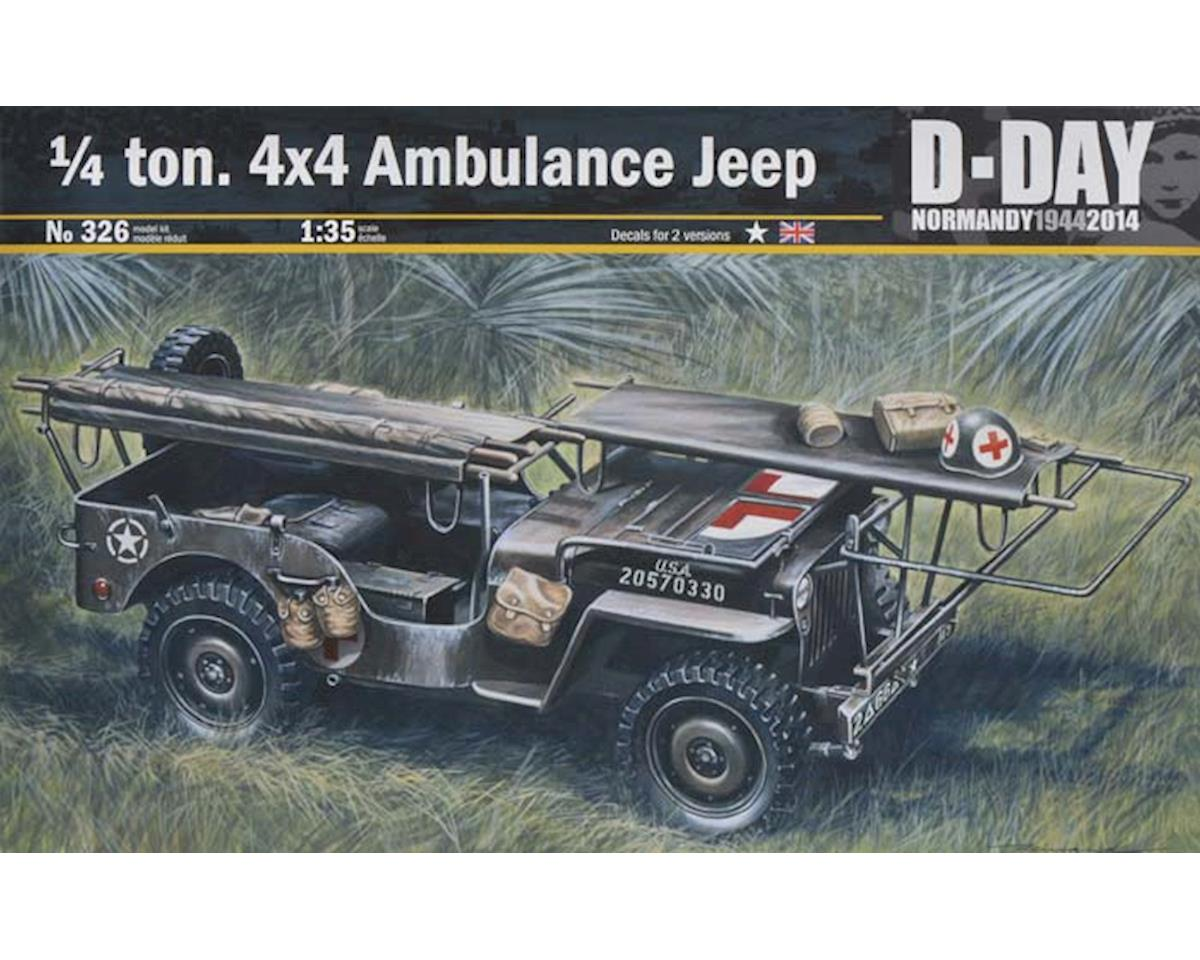 Italeri Models 1/35 1/4 Ton 4x4 Ambulance Jeep Normandy