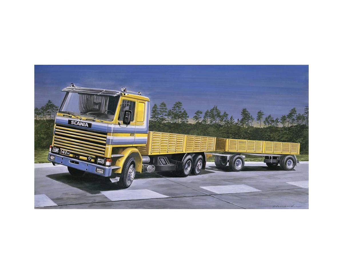 Italeri Models 1/24 Scania 142M Flatbed Truck/Trailer