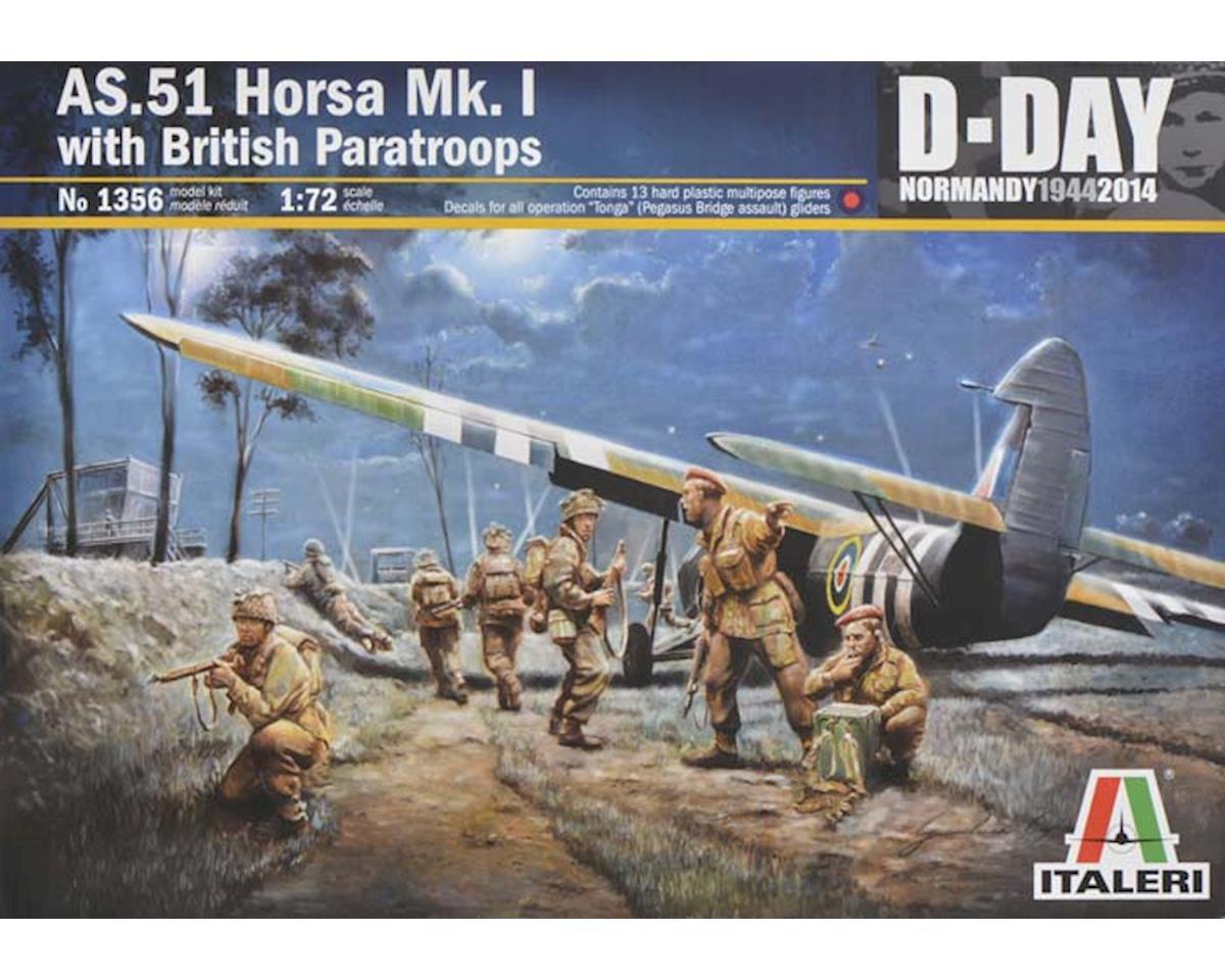 Italeri Models 1/72 AS51 Horsa Mk I/II Aircraft w/13 British Para