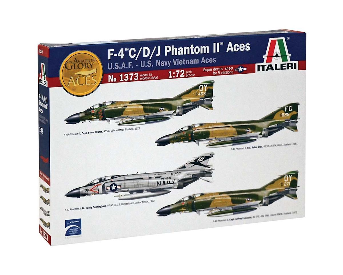 Italeri Models 1/72 F-4 C/D/J Phantom Usaf/Navy/Vietnam Aces