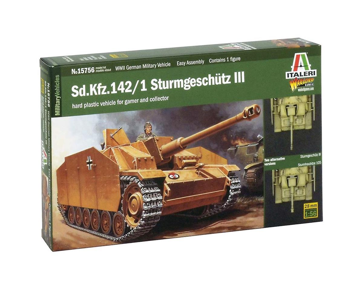 Italeri Models 15756 1/56 Sd.Kfz.142 Sturmgeschutz III Tank (Wargames)