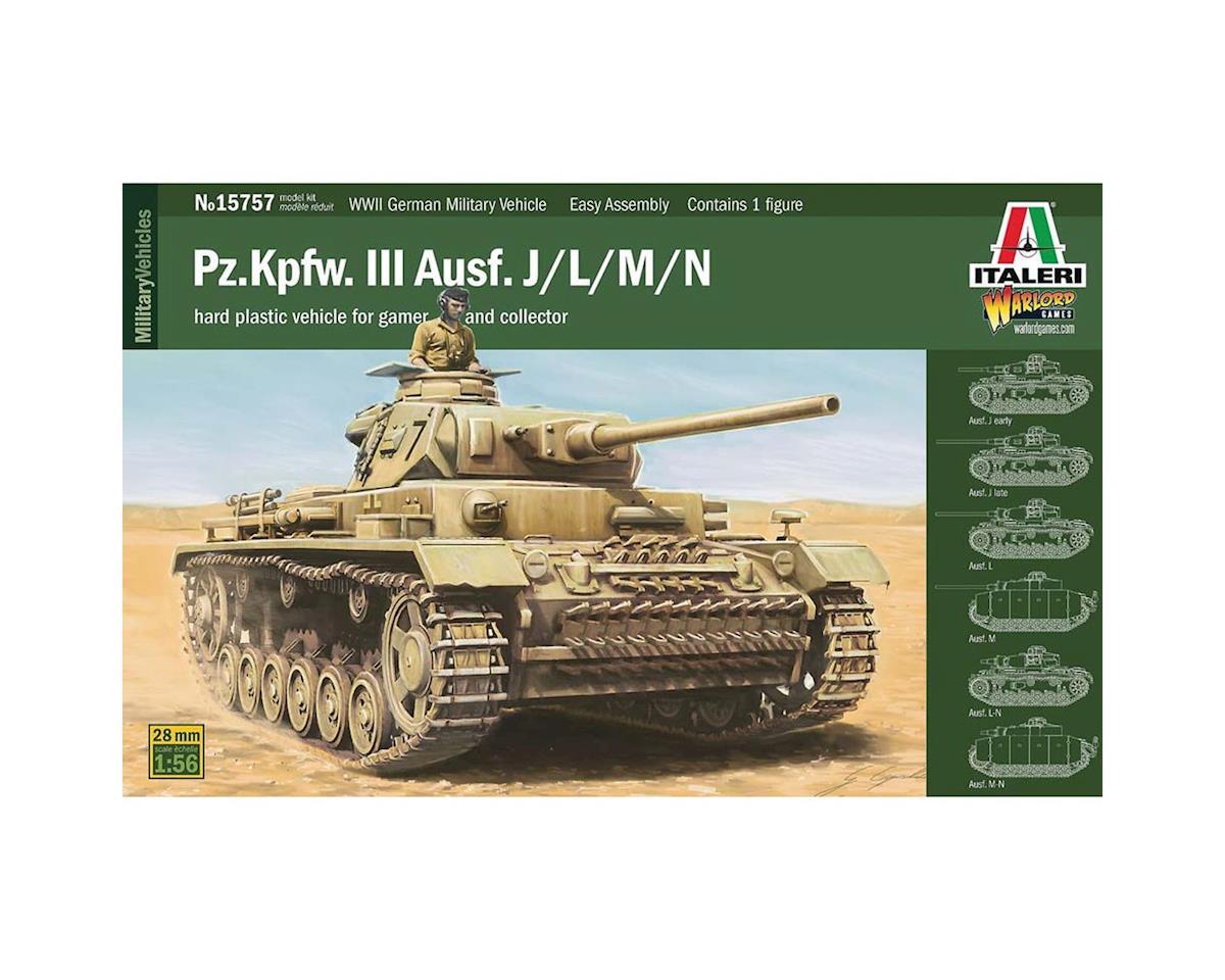 Italeri Models 1/56 Pz.Kpfw.III Ausf. J/L/M/N w/Driver