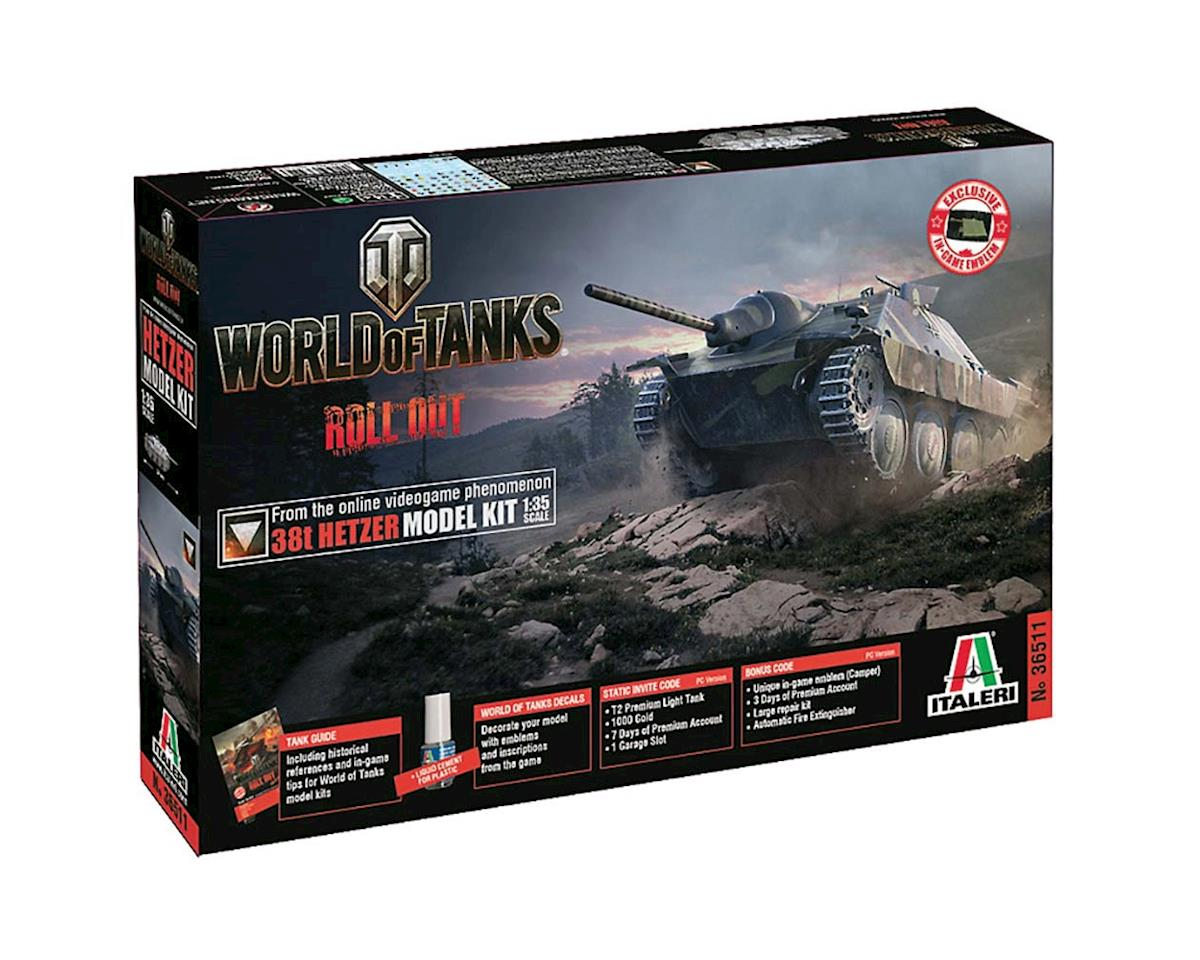 Italeri Models 1/35 World of Tanks 38t Hetzer
