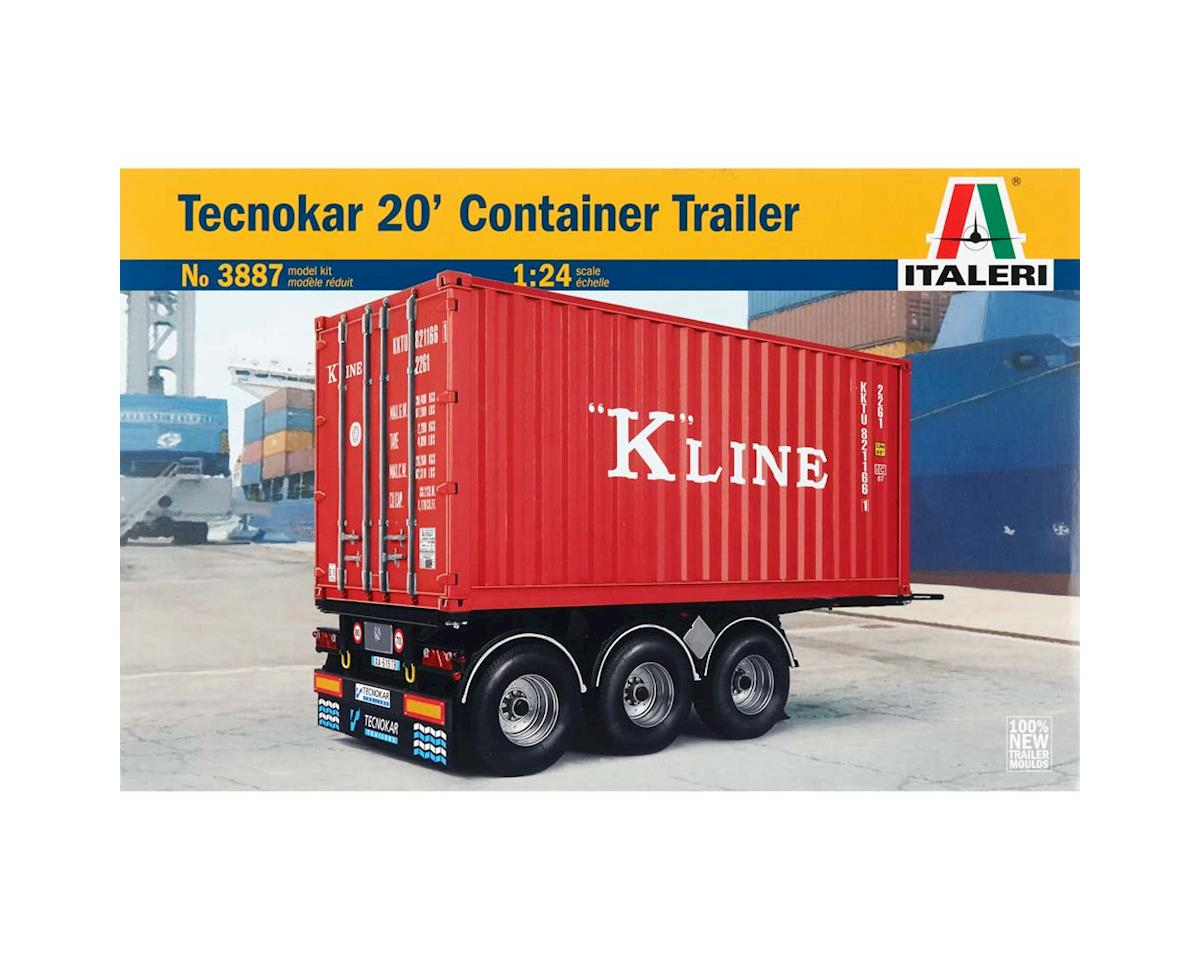 Italeri Models 1/24 20 Foot Container Trailer