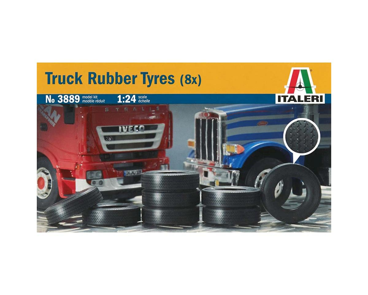 1/24 Truck Rubber Tires (8) by Italeri Models