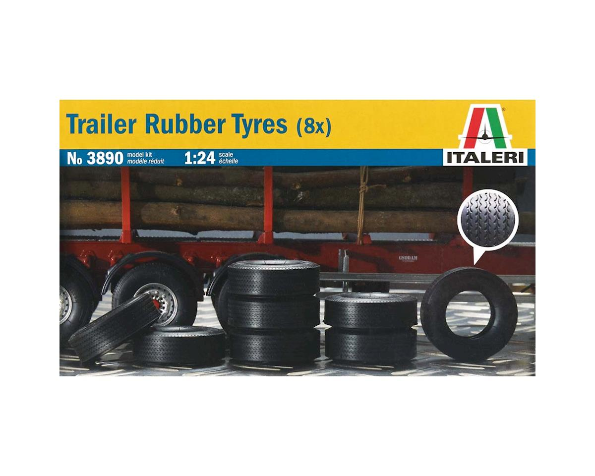 Italeri Models 1/24 Trailer Rubber Trailer Tire (8)