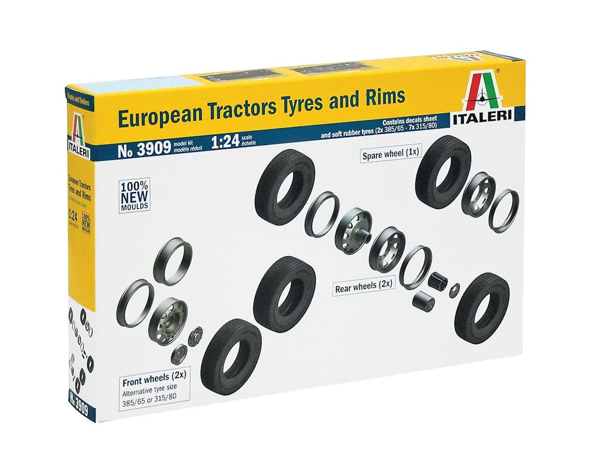 Italeri Models 1/24 European Tractor Tires and Rims