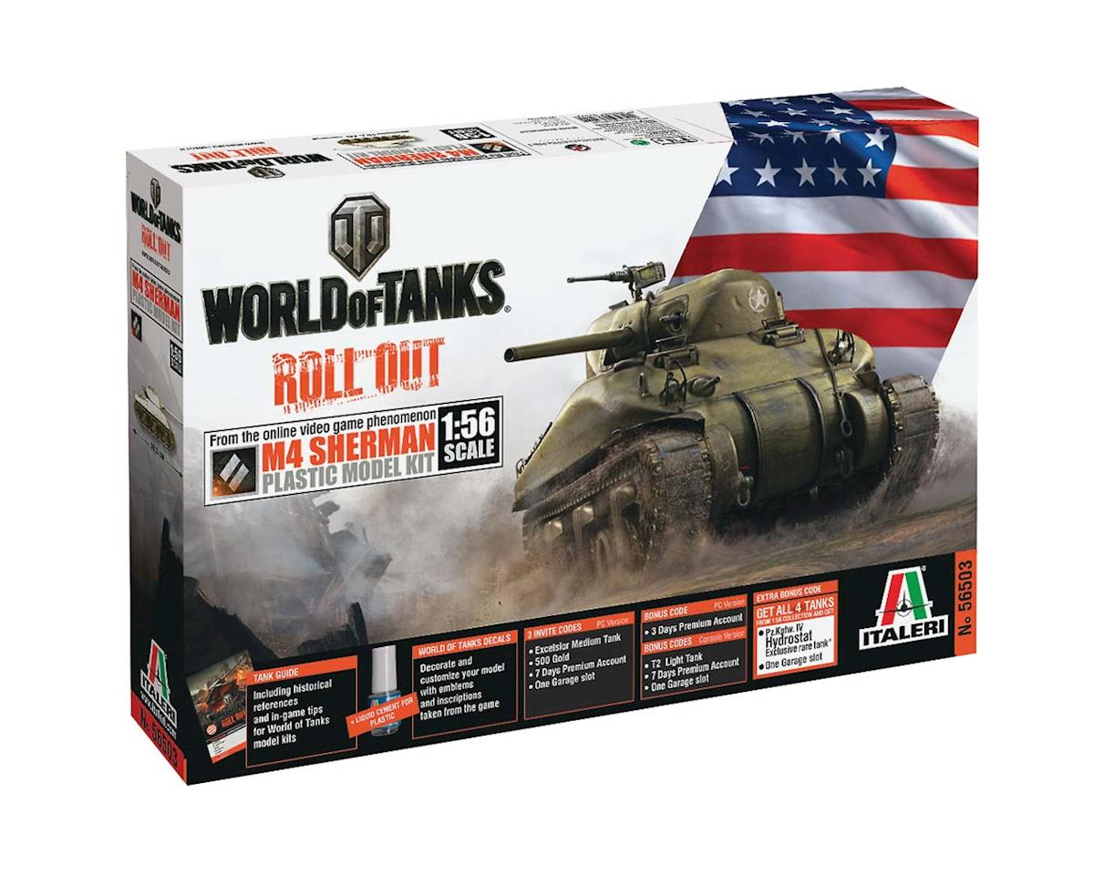 Italeri Models 1/56 World of Tanks M4 Sherman