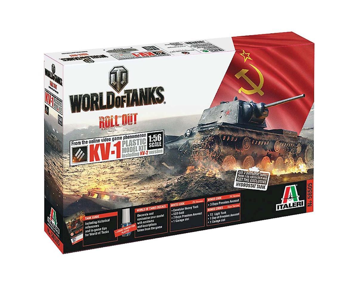 Italeri Models 1/56 World of Tanks KV-1/KV-2