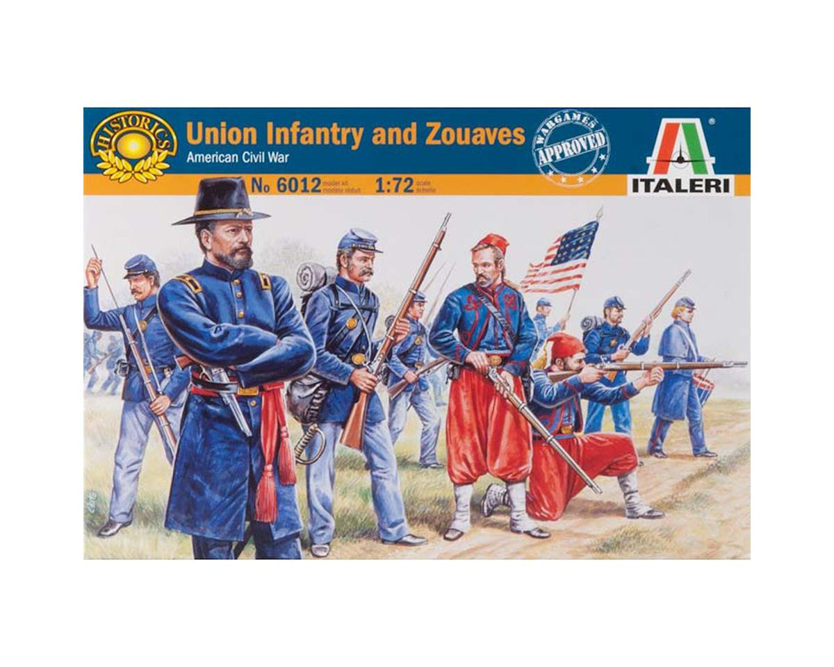 Italeri Models 1/72 American Civil Wars Union Infantry/Zouaves