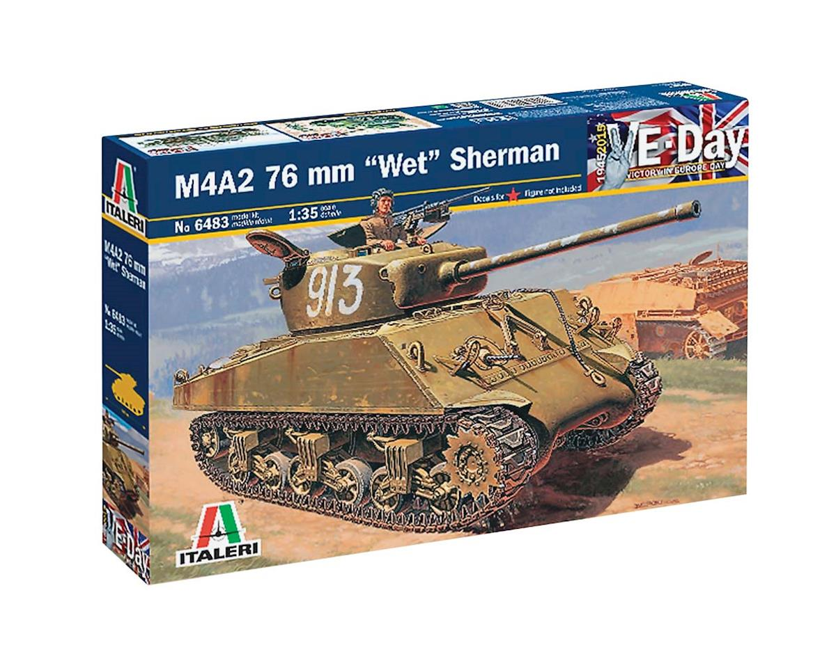 "Italeri Models 1/35 M4A2 76mm ""Wet"" Sherman Tank"
