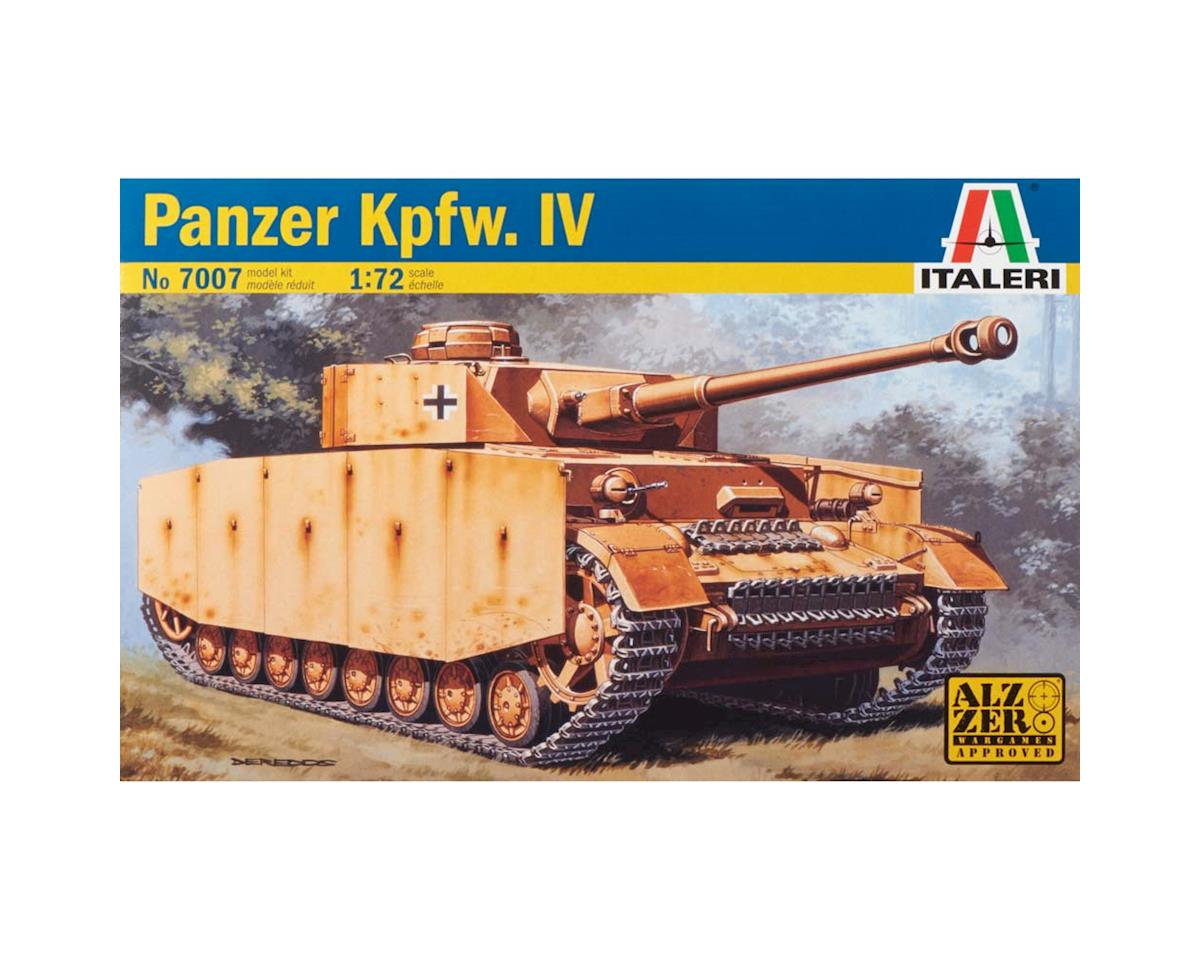 Italeri Models 1/72 WWII German Panzer Kpfw.IV Tank