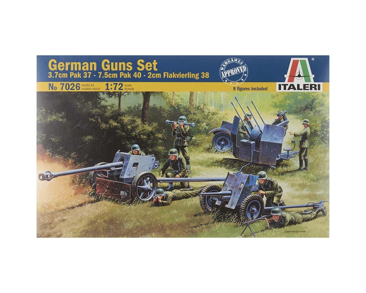 1/72 WWII German Gun Set PAK35/PAK40/FLAK38 by Italeri Models