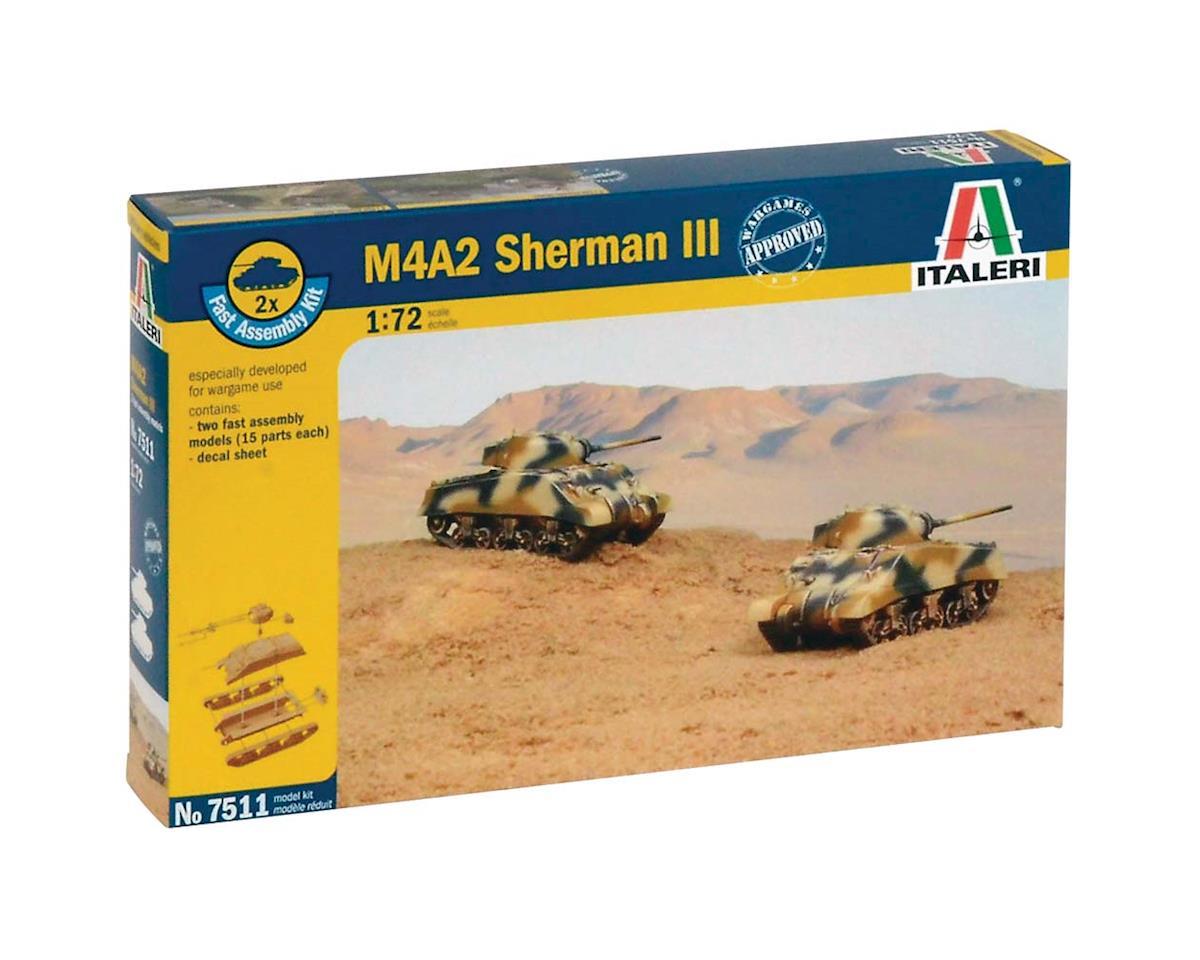 Italeri Models 1/72 M4A2 Sherman III Tank