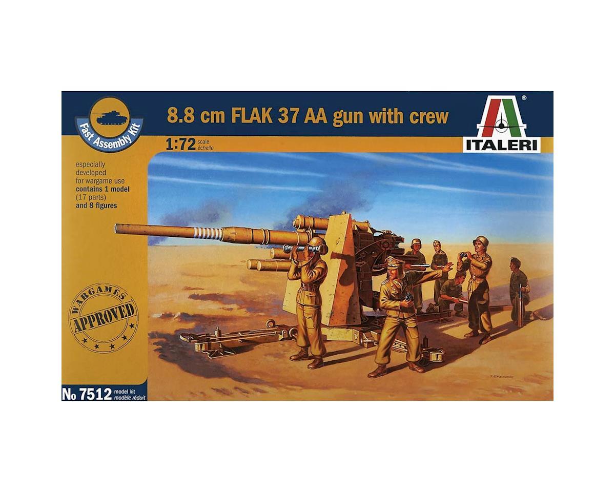 Italeri Models 1/72 8.8cm Flak 37 AA Gun