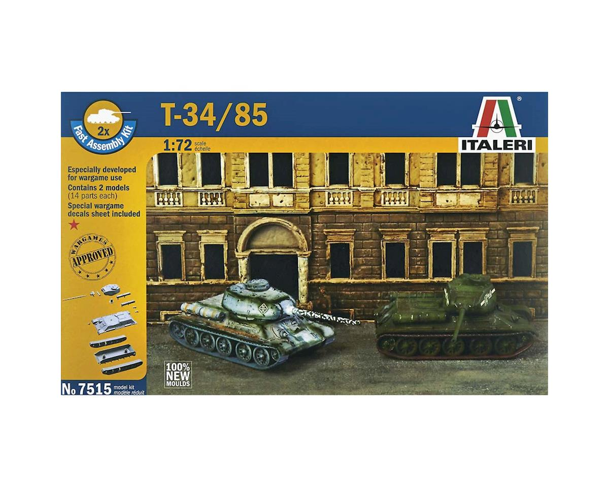 1/72 T-34/85 Russian Tank by Italeri Models