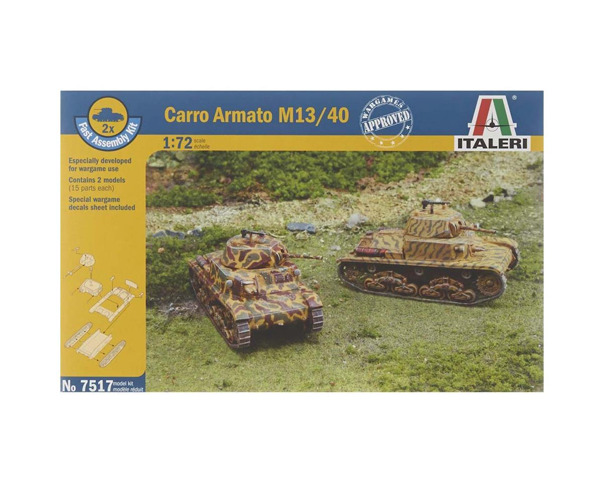Italeri Models 1/72 WWII Italian Carro Armato M13/40