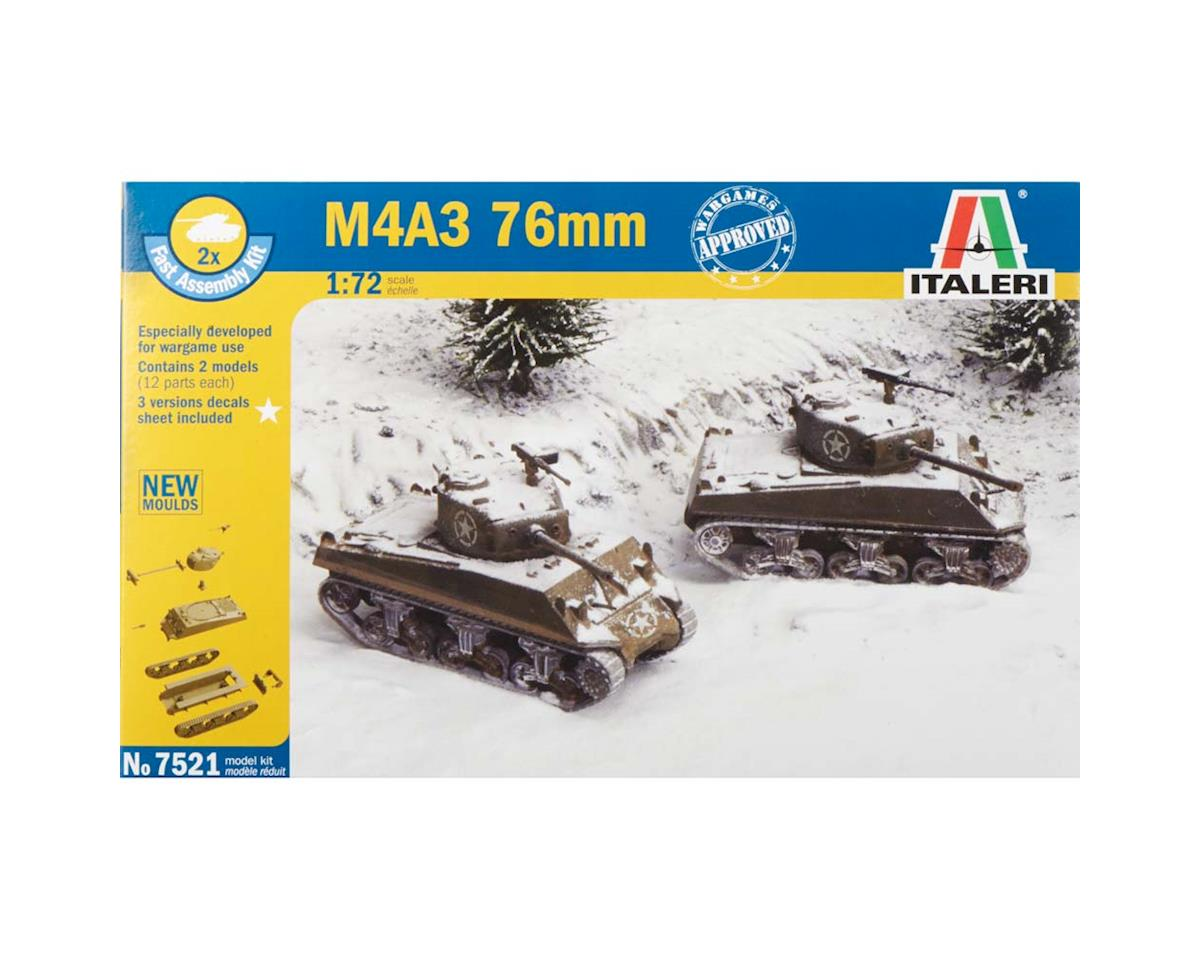 Italeri Models 1/72 WWII US M4A3 76mm Tank
