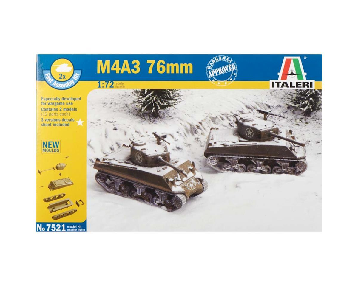 Italeri Models 1/72 WWII US M4A3 76mm Tank