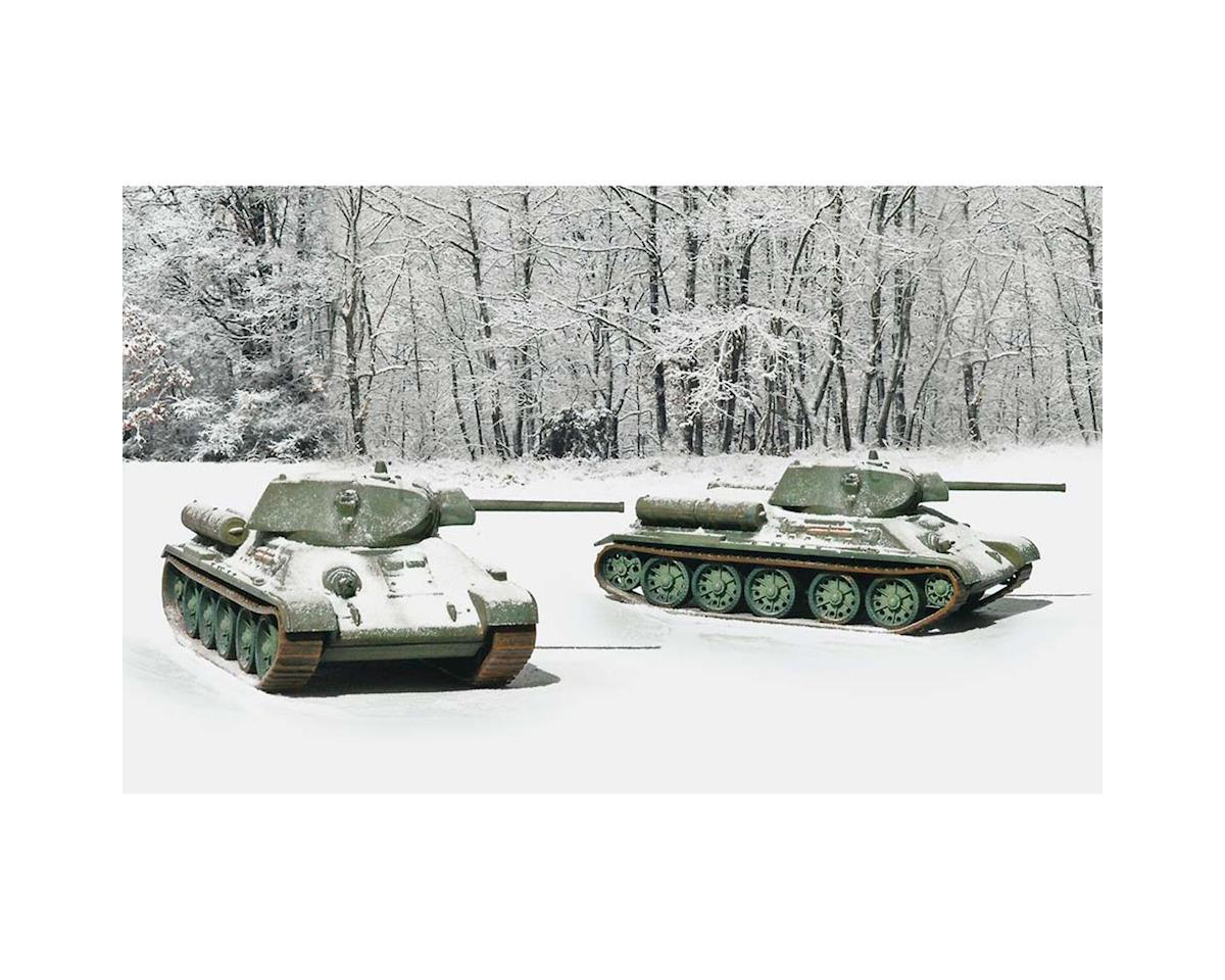 1/72 T34/76 Mod. 42 Tanks (2 model kits) by Italeri Models