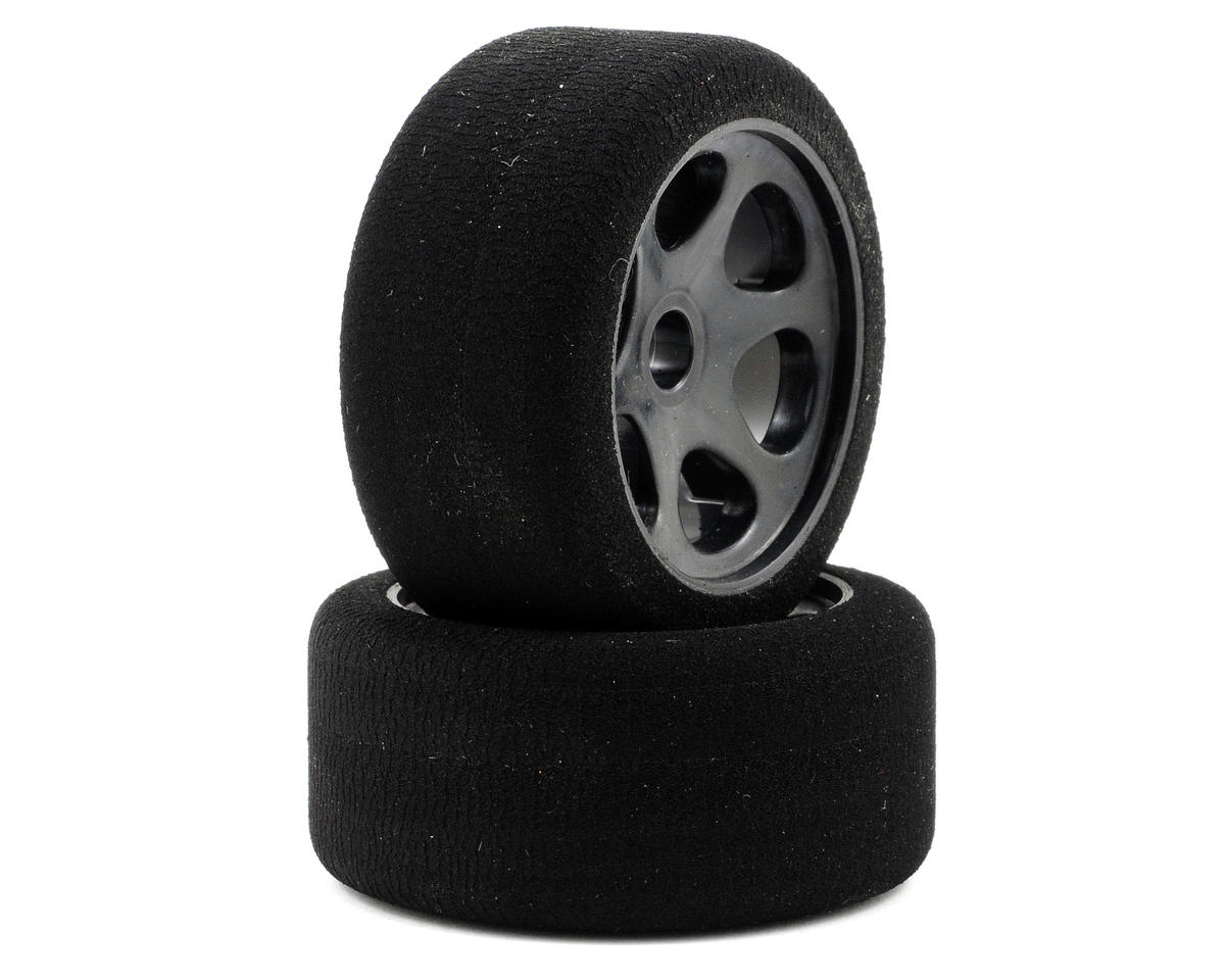 Jaco Mounted 1/10 Pan Car Foam Front Tires (Black-Firm/High Bite Carpet) (2)