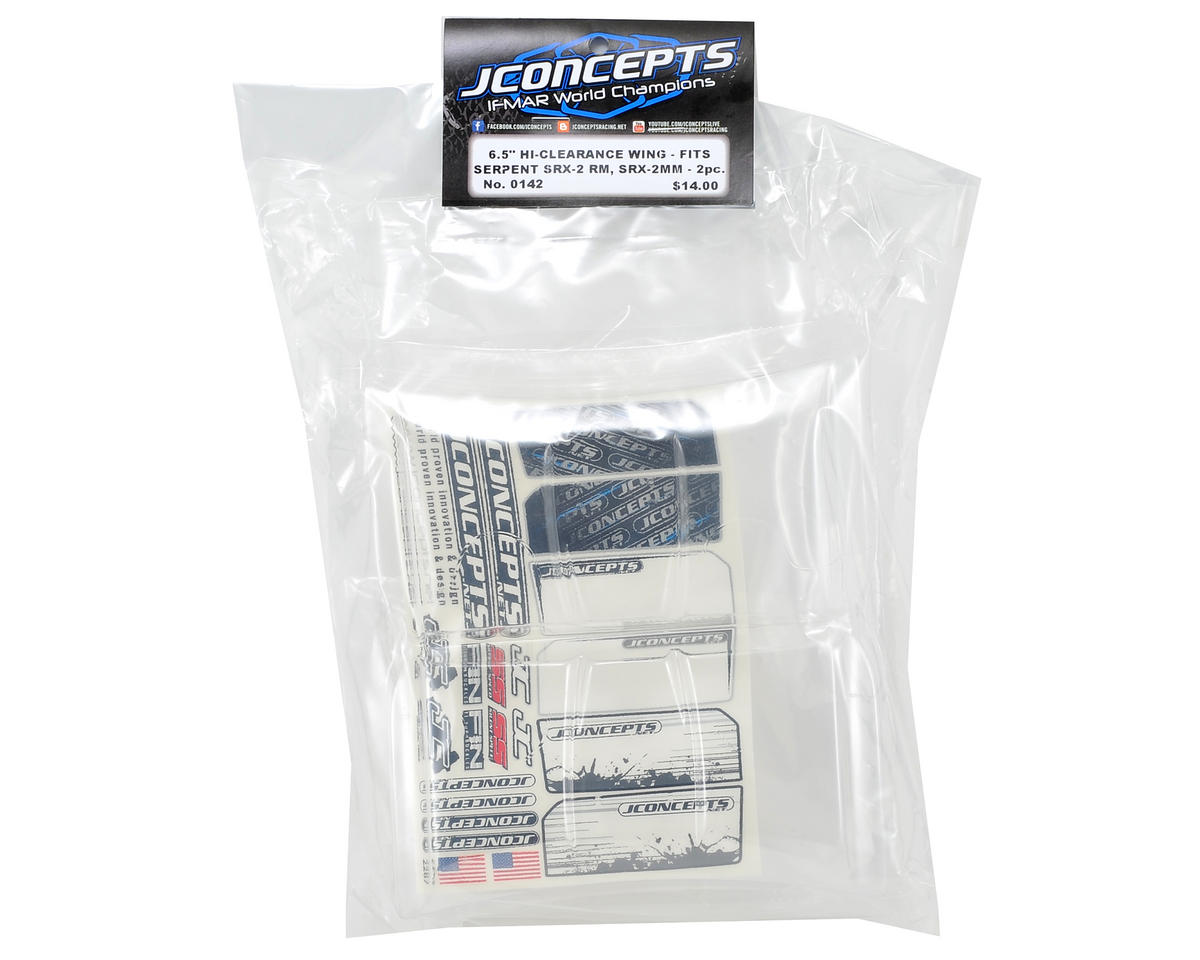 "JConcepts Serpent Spyder SRX-2 Hi-Clearance Wing (6.5"" Wide) (2)"